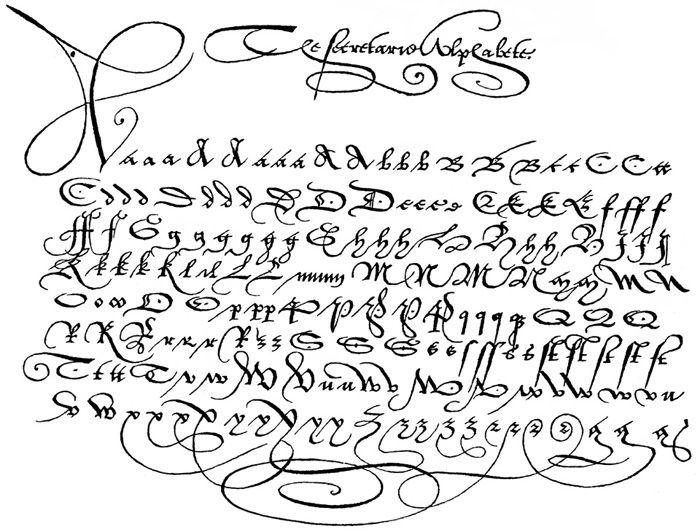 Old English Handwriting Alphabet Old English Handwriting