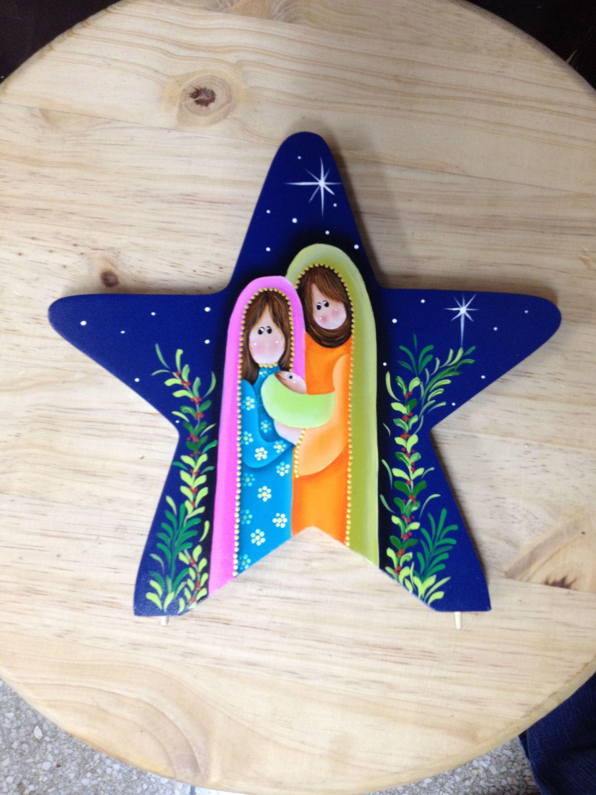 hight resolution of nativity scene on star