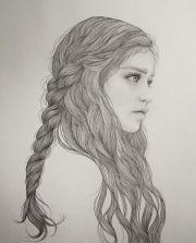 beautiful female portrait illustrations