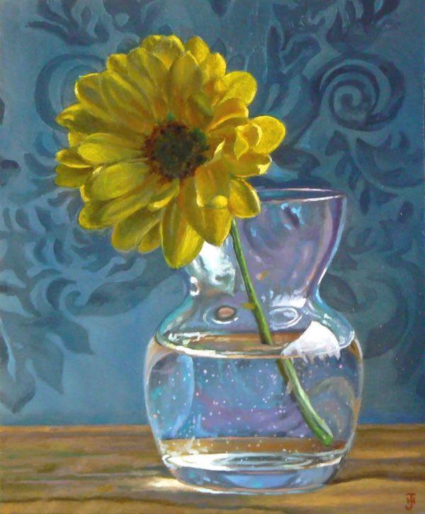 jeffrey hayes daisy in vase