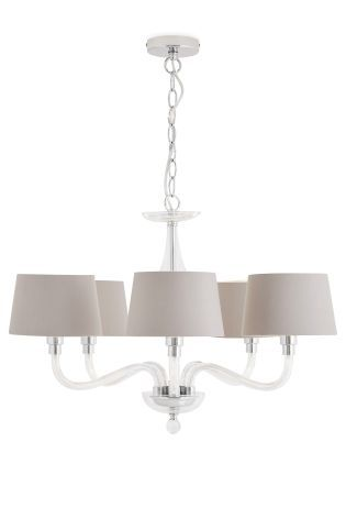 Knightsbridge 5 Light Glass Chandelier With Shades From The Next Uk Online