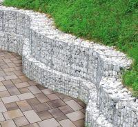 Gabion retaining wall garden design ideas slope garden ...