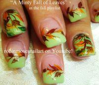 """Robin Moses Nail Art: """"fall leaves"""" """"fall nails"""" """"fall ..."""
