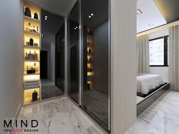 master bedroom wardrobe designs 164A Rivervale Crescent, Modern HDB Interior Design