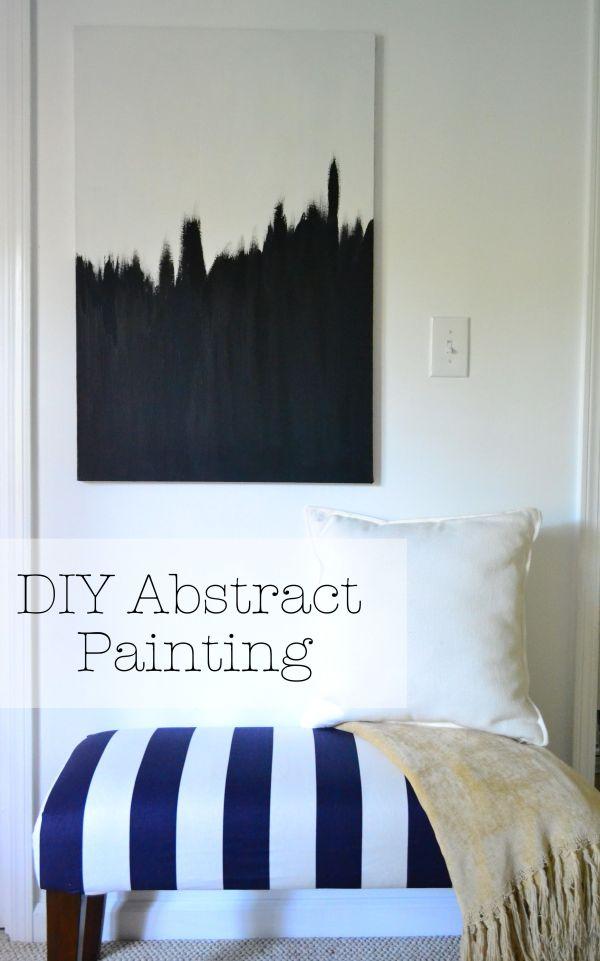 Diy Abstract Painting - Hang Three Canvas'
