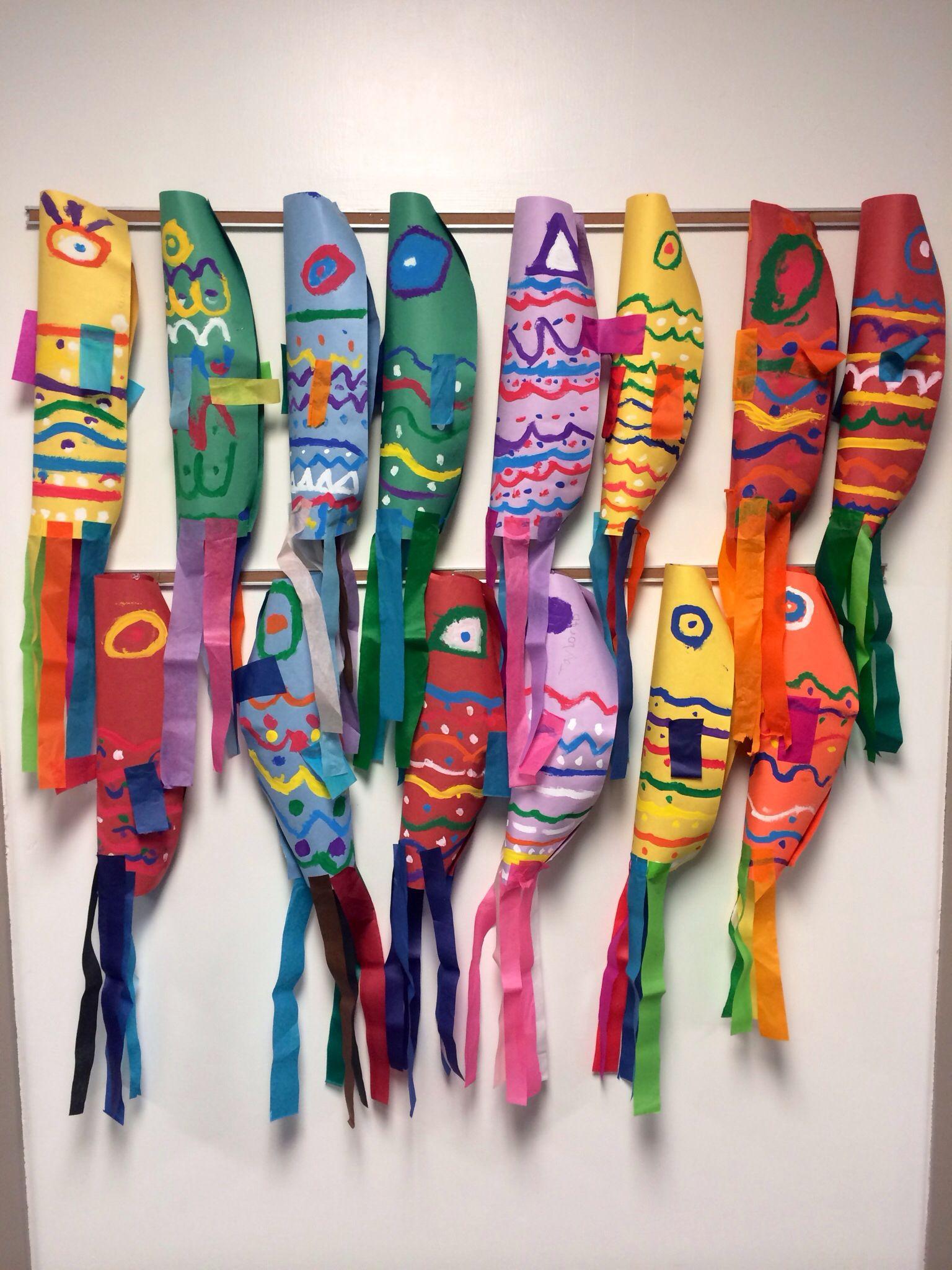 Elementary Art Project Japanese Koinobori Culture Carp