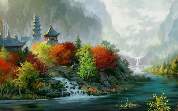 Beautiful Chinese Landscape Painting