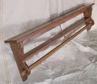 oak quilt hanger   Solid Oak Wall Mounted Quilt Racks Made ...