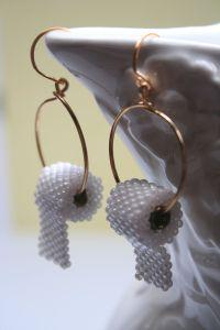 Funny earrings hoops toilet paper sead bead FUN ...