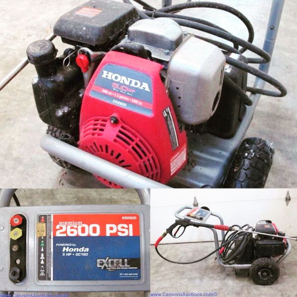 Excel 2600 Psi Pressure Washer With 5 Hp Honda Engine