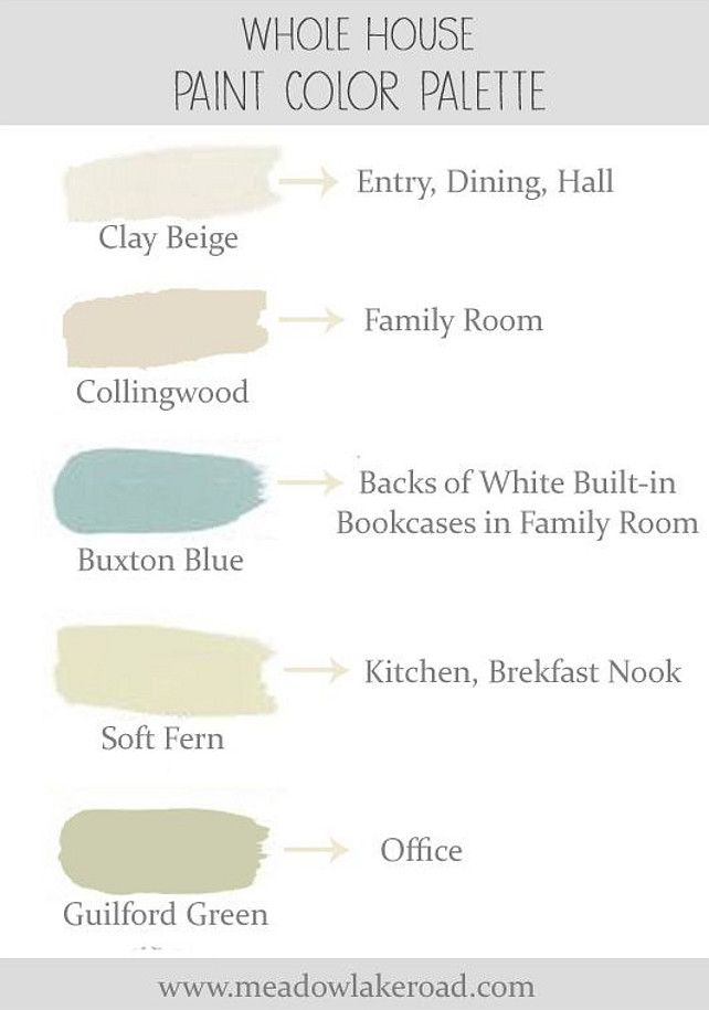 Color Palette Ideas Whole House Soothing Paint Color Palette For