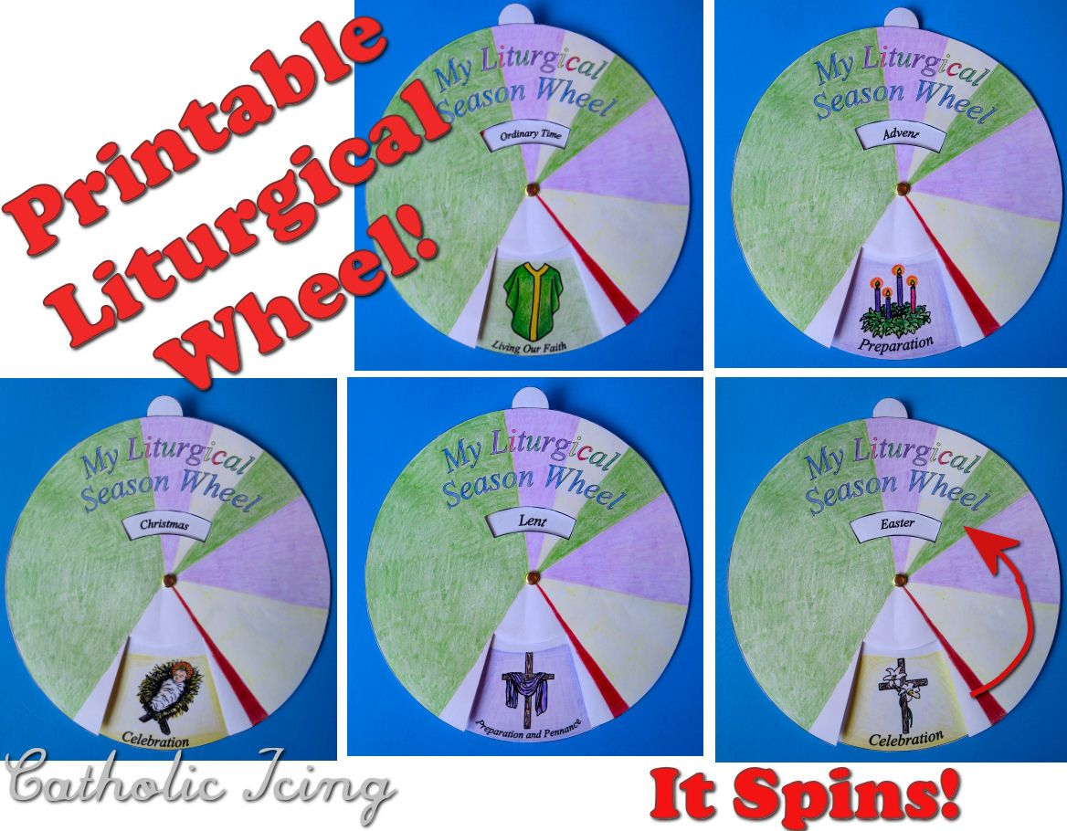 Printable Liturgical Season Wheel That Spins