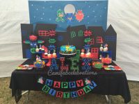 Pj masks theme birthday party. Pj masks party diy | Crafts ...
