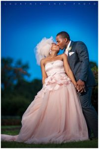African American Bride Blush wedding gown! #bride and # ...