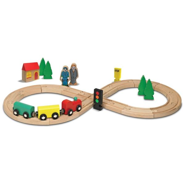 Toy Train Sets Kids Play Vehicles Wooden