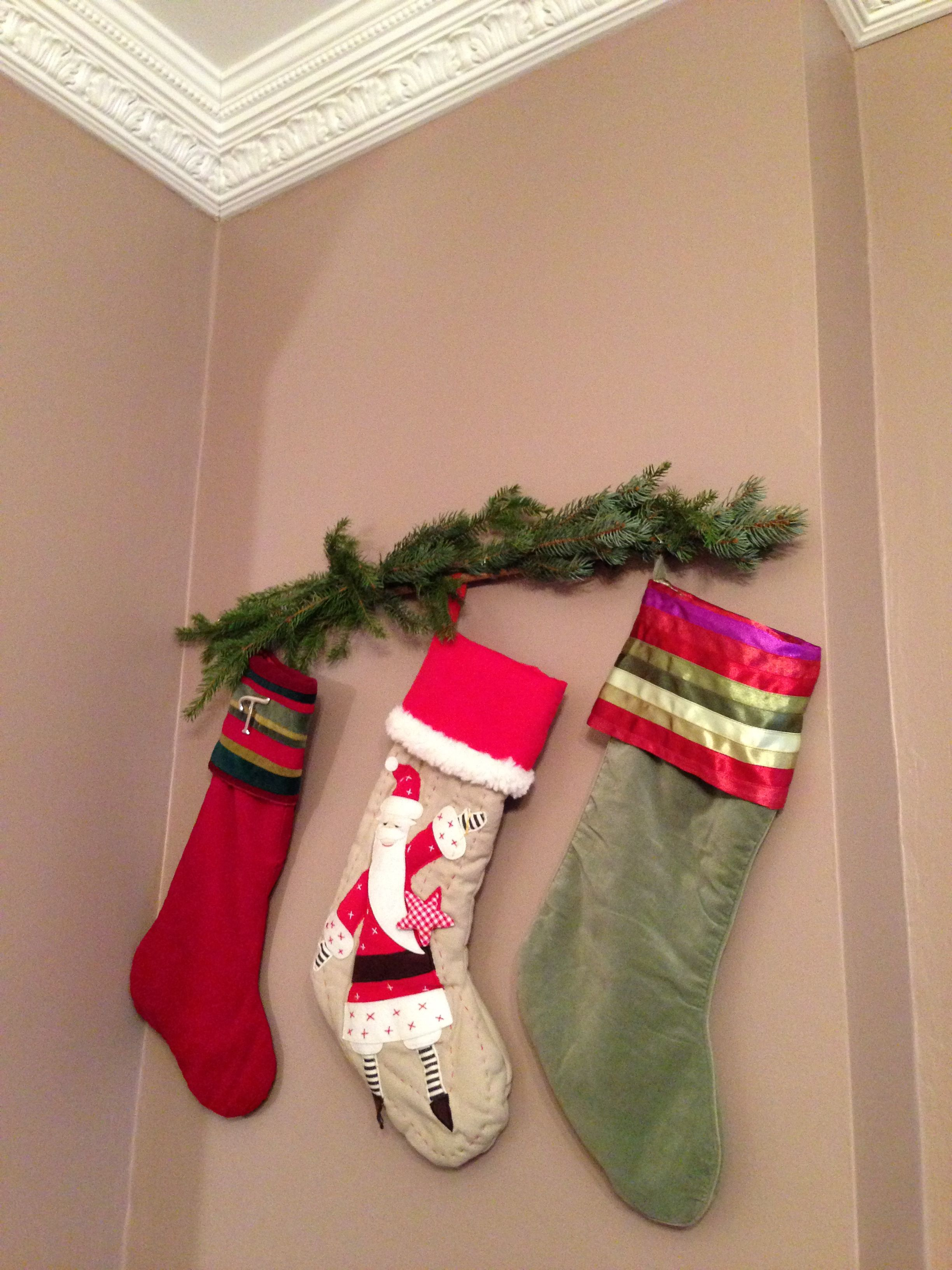 Remodelaholic How To Hang Stockings Without A Mantel Hanging Stockings Without A Mantle... | Holiday Ideas