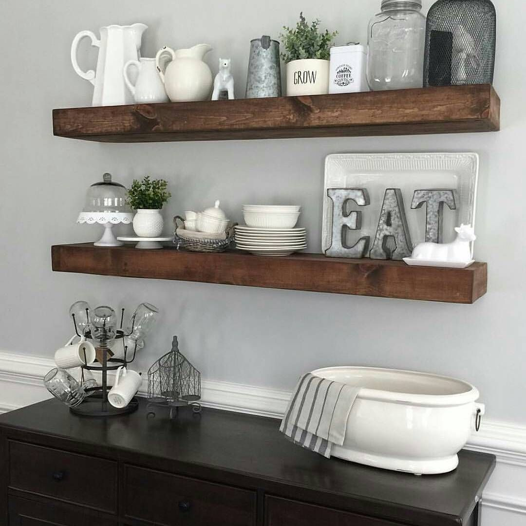 kitchen shelving ideas appliance sale shanty2chic dining room floating shelves by myneutralnest