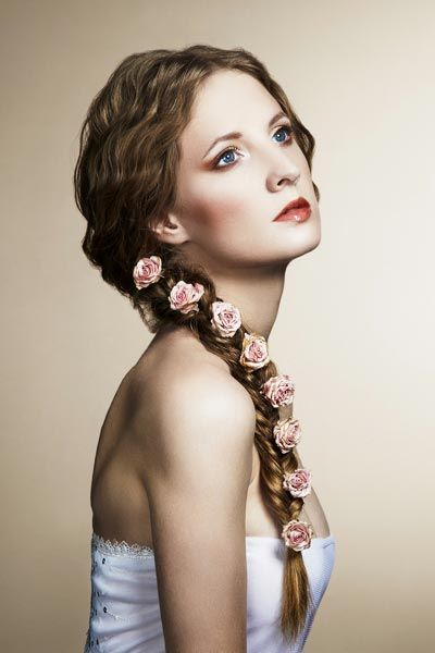 Langes Haar Zopf Für Frauen Im Jahr 2015 Frisuren Pinterest
