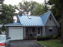 Blue Metal Roof House Colors