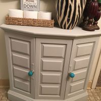 Painted cabinet with Americana Decor chalk paint in color ...