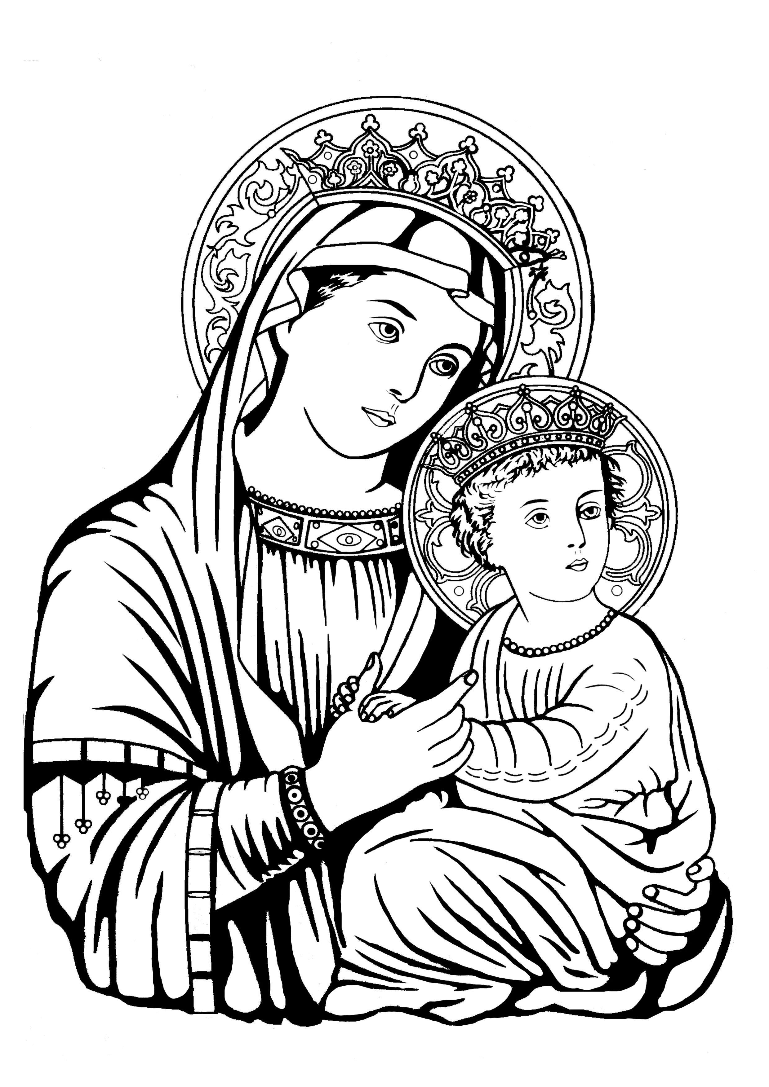 St Takla Gallery Var Albums Kids Coloring Christian Saints 24 Meem Saint Mary St