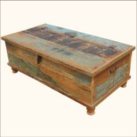 $549 1. Oklahoma Farmhouse Old Wood Distressed Coffee ...