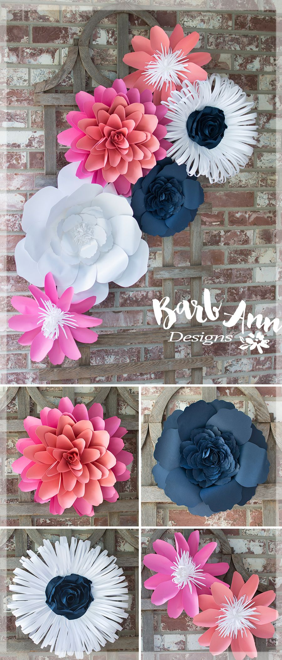 Large paper flower wall decor for nursery weddings bridal showers baby  also rh pinterest