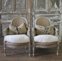 Antique French Bergere Chairs from Full Bloom Cottage ...