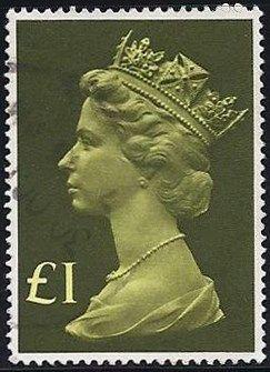 QueenElizabethII1poundOlivegreen  Stamp Book