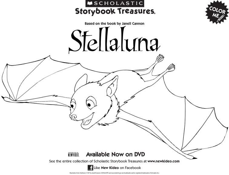 Coloring Pages Websites Stellaluna Coloring Page Free