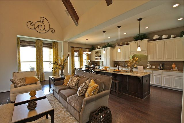 Open Floor Plans Kitchen Living Room