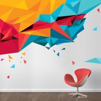 Abstract triangles | Wall transfers, Environmental ...