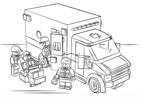 Lego Krankenwagen Ausmalbild 825 Malvorlage Lego