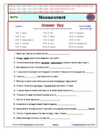 Bill Nye** Measurement A Differentiated Worksheet, Answer ...