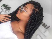 jumbo braids natural hair style
