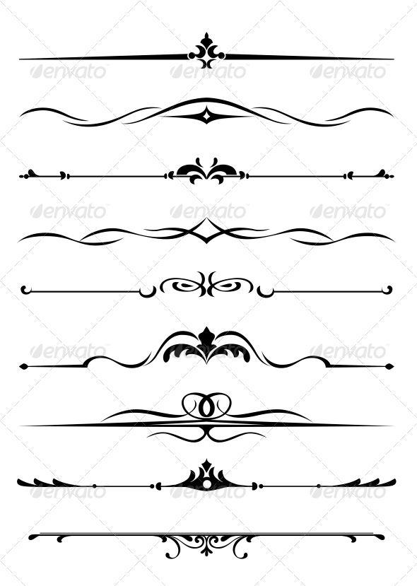 Borders and Monograms #GraphicRiver Borders and monograms