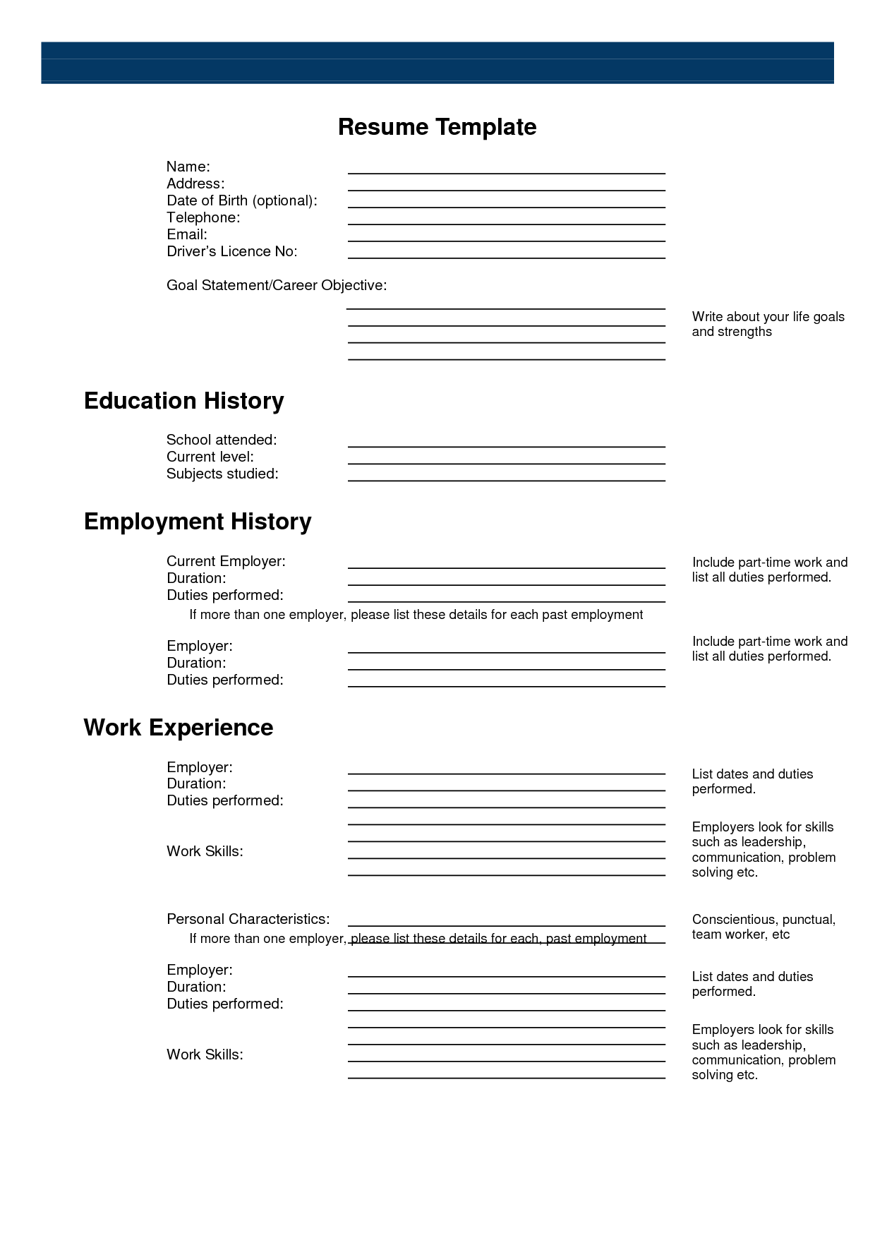 Resume Template Pinterest Free Printable Sample Resume Templates Http Www