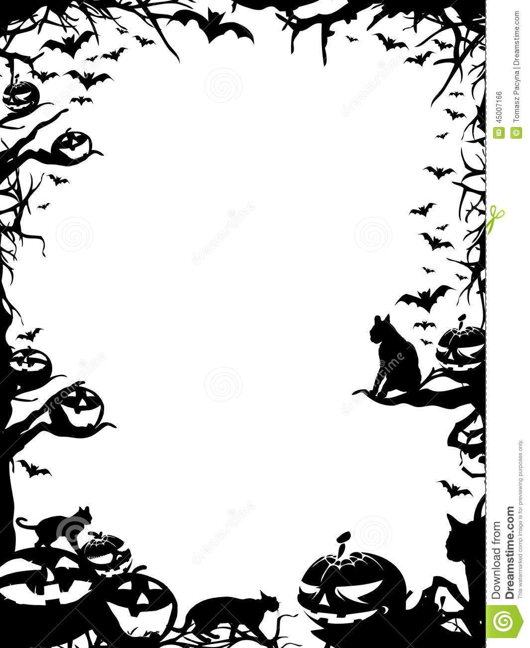 graphic about Free Printable Halloween Borders named 25+ Black Clip Artwork Spooky Scenery Shots and Recommendations upon