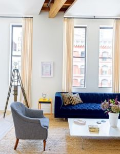 House tour  large new york loft receives cosy touch by two top designers also rh pinterest