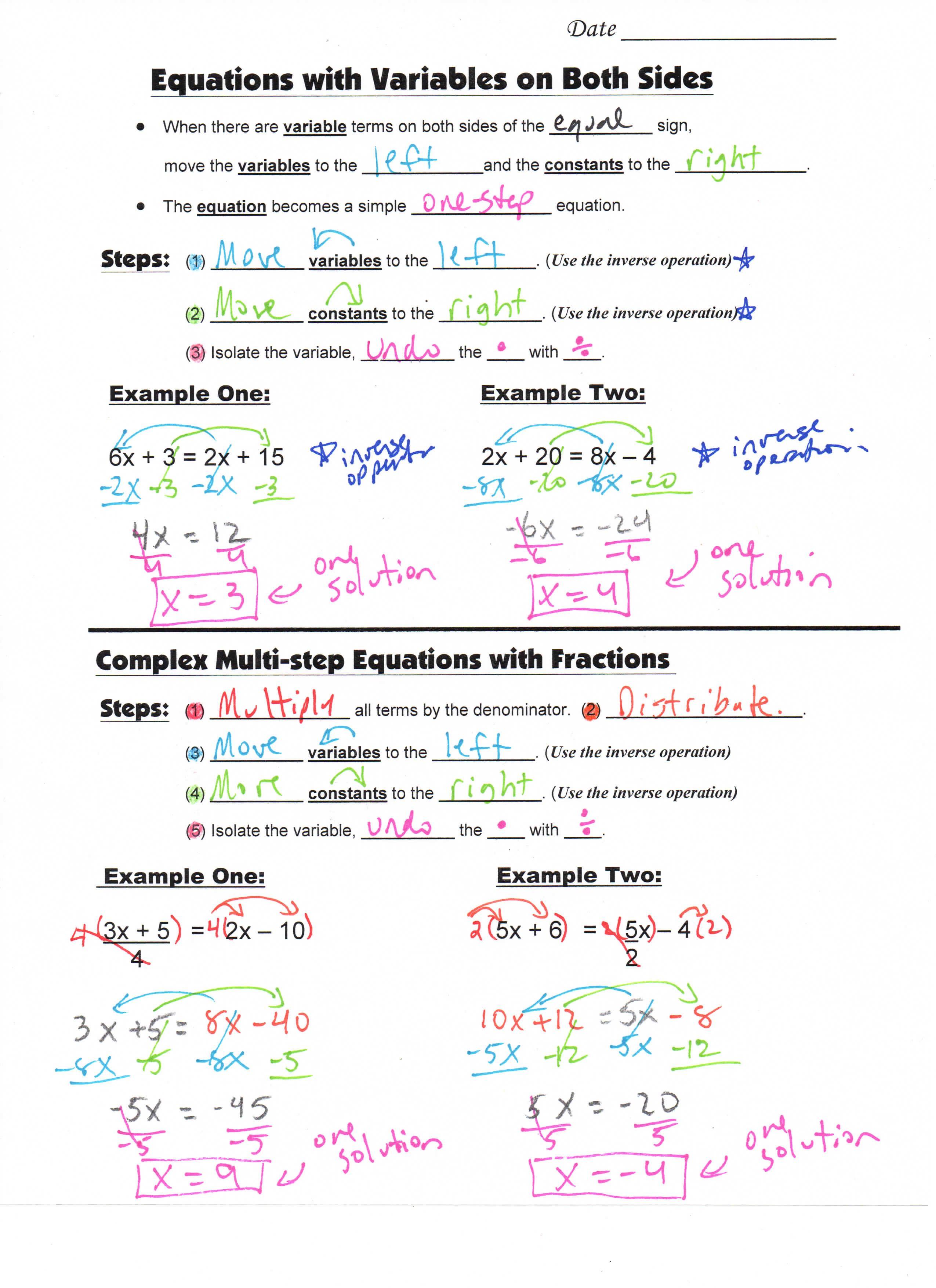 S Teacherspayteachers Product Math 8 Guided Interactive Math Notebook Page