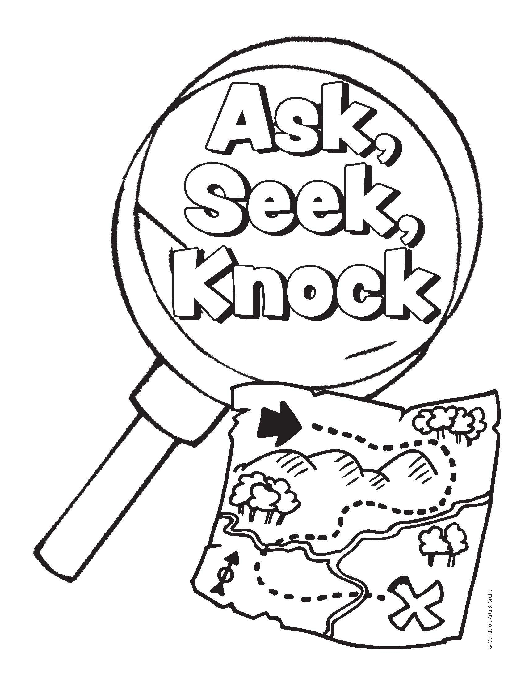 Scavenger Coloring Sheet Proof
