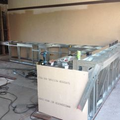 Metal Frame Outdoor Kitchen Undermount White Sink Framing A Custom Bbq Kitchens