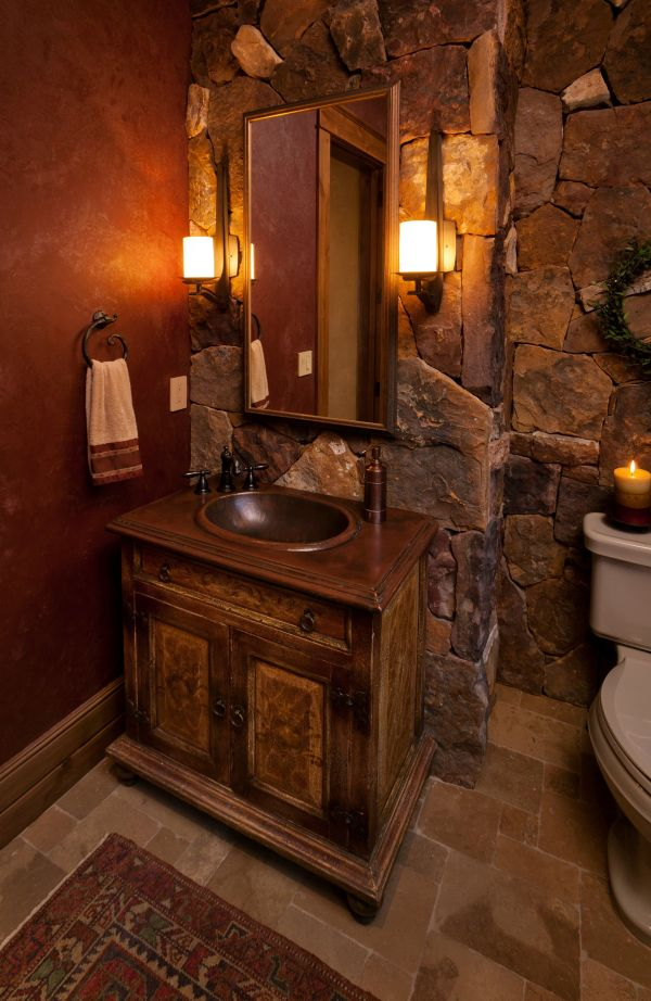Cabin Bathroom Vanity Ideas . Small Bath