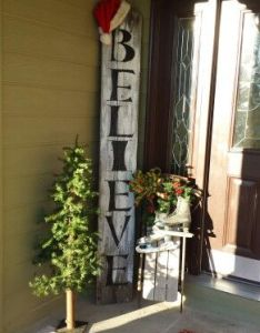 Diy christmas porch ideas great decorating suggestions for front interior design crafting by holiday also believe  tree sled  ice skates projects to try pinterest rh