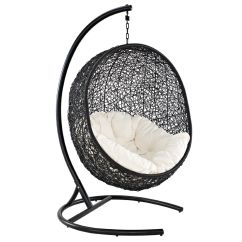Outdoor Wicker Swing Chair Abode Fishing Review Amazon Lexmod Cocoon Rattan