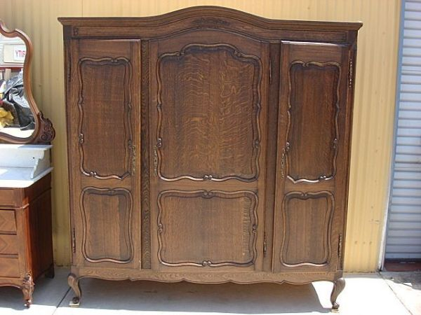 country style bedroom armoire French Antique Armoire Wardrobe Antique Closet Cabinet