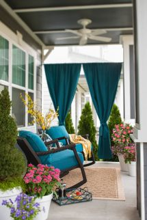 Add Privacy Porch With Panels Of Rich Blue