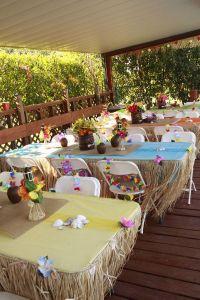 Tropical Party Decorating Ideas   Hawaiian Luau 1st ...