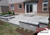Brick Paver Patio Design with Brick Seating Wall and ...