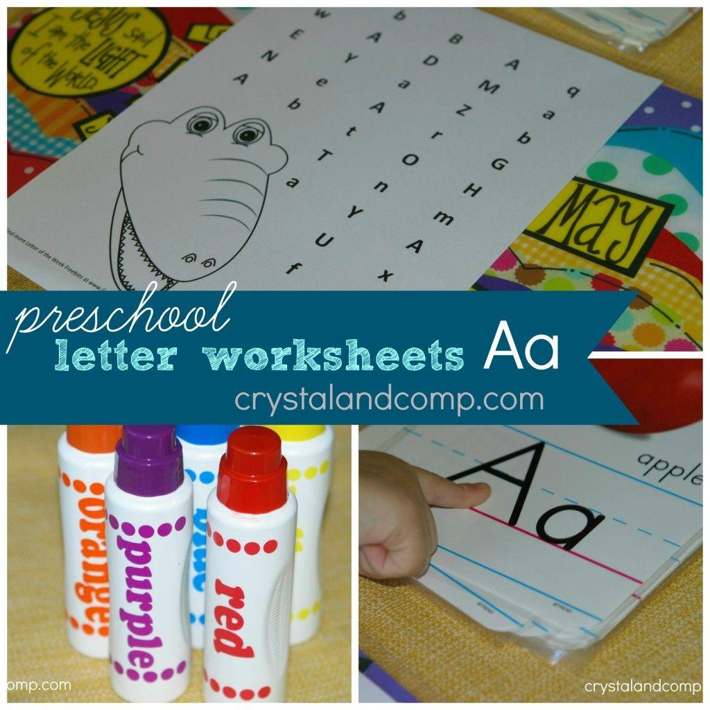Preschool Letter Worksheets Do A Dot Printable Letter A